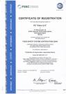 Сертификат FSSC 22000 - 1 (англ.)